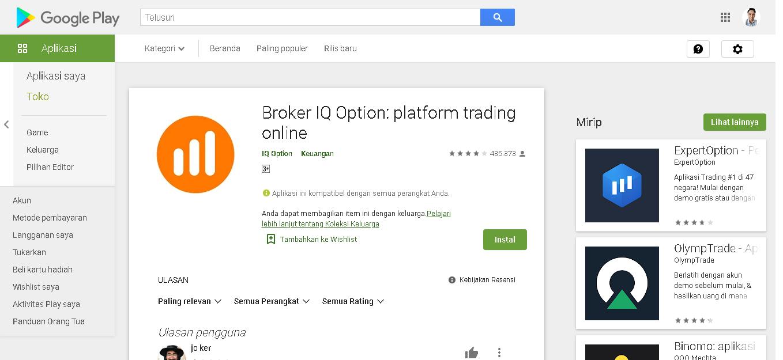 Download Aplikasi IQ Option