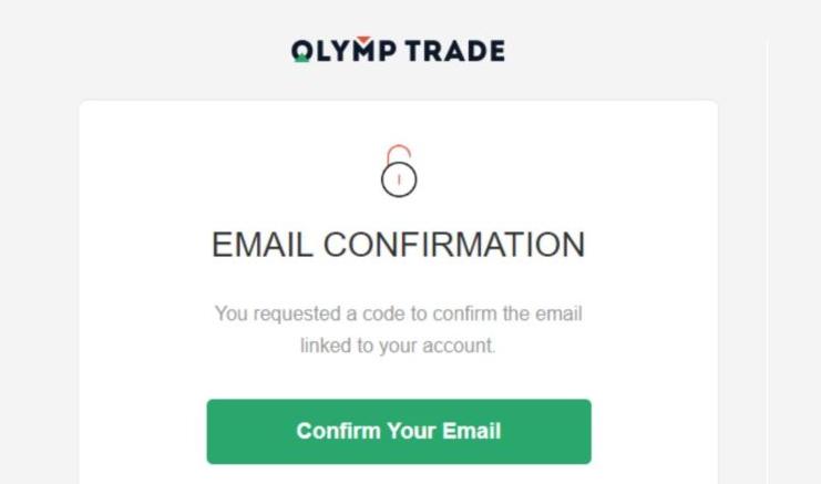 Verifikasi akun Olymp Trade Anda