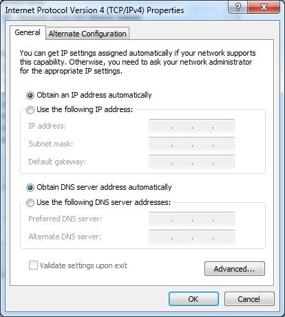 Akses menggunakan DNS untuk Ponsel