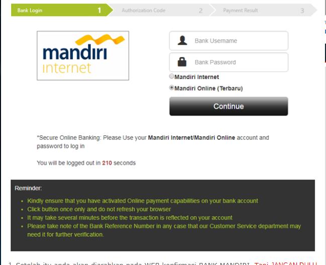 Masuk ke Akun Bank Mandiri Online