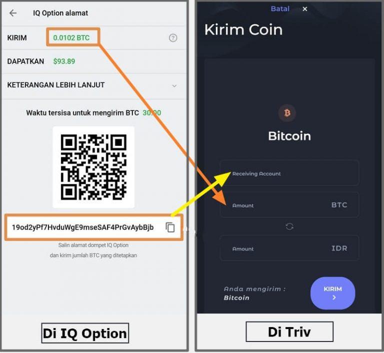 Deposit Bitcoin ke IQ Option