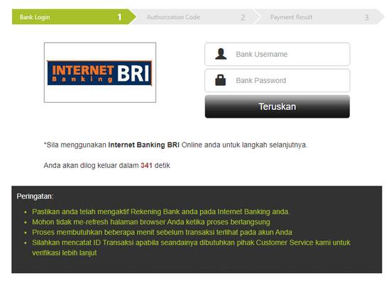 Masuk ke Akun Online Internet BRI