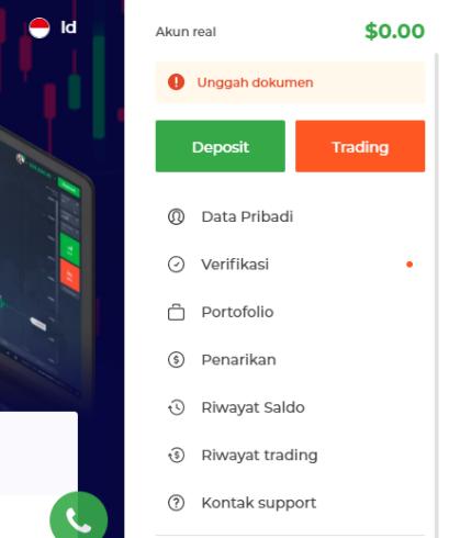 Melakukan Deposit dari Aplikasi Web IQ Option